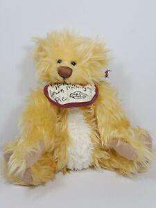 """GANZ COTTAGE Plush BEAR Collectible LEMON MERINGUE Lorraine Chien 9"""" NWT"""