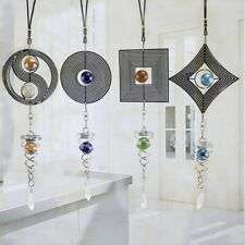 Stainless Steel Spiral Wind Chimes Hanging Spinner Home Garden Yard Decor la