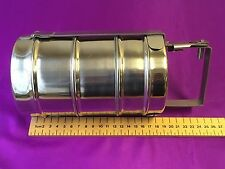 STEEL 3 TIER APPROX 11 CM DIA TIFFIN  BOX CARRIER LUNCH BOX SIZE 9 X 3