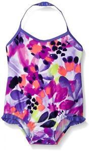 Osh Kosh Baby Girls Floral Print One Piece Swimsuit Size 6M 12M 18M 24M