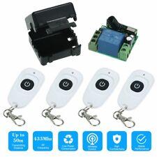 RF Wireless Remote Control Switch + 4Pcs RF 433MHz Y8Q5 Tool 433MHz DC12V 1CH
