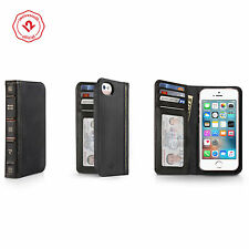 Twelve South BookBook for iPhone SE/5s, Vintage Leather iPhone Wallet Case,Black