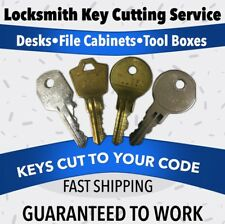 Shaw Walker Office Furniture/File Cabinet Keys Codes D7C166 - D7C210 Lock Key