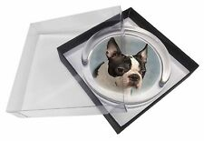 Boston Terrier Dog Glass Paperweight in Gift Box Christmas Present, AD-BT8PW