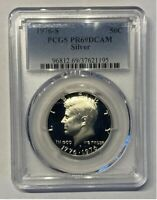 1976-S SILVER Kennedy Half Dollar PCGS PR69 DCAM Proof 69 Graded Certified Coin