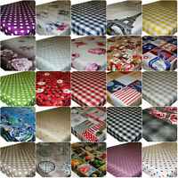 Wipe Clean Tablecloth Oilcloth Vinyl PVC All Designs & Colours 200 x 137cm