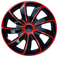 """4x16"""" Wheel trims covers for Volkswagen Crafter Transporter T5 16"""" black/red"""