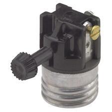 100 Pk Leviton 250W 250V Turn Knob Interior Electric Lamp Socket 028-07090-00M