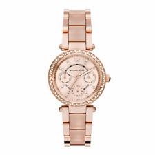 Parker reloj de mujer Michael Kors Rosa Oro Acero & Banda De Acetato