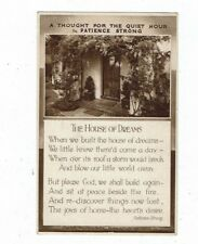 POST CARD PATIENCE STRONG THE HOUSE OF DREAMS