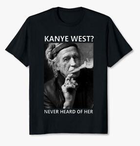 Keith Richards In Concert Guitarist Singer Black T Shirt Size S-3XL Gift