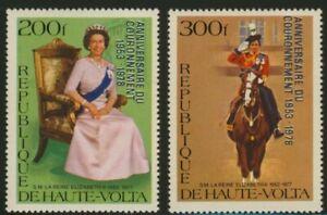 Upper Volta 478-9 MNH Queen Elizabeth, Horse, Coronation o/p