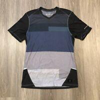 Brooks PureProject Mens Medium ColorBlock V Neck Running Athletic T Shirt