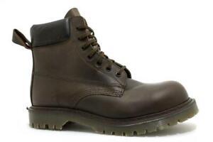 Solovair Made in England 7 Eye Gaucho Padded Collar Steel Boot Ben S116-CS81551B