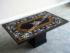 6'x3' Marble Dining Table Top And Stand Bird Inlay Marquetry Hallway Decor E630A