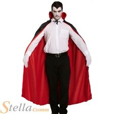 Reversible Red & Black Devil Vampire Cape Halloween Fancy Dress Costume