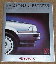 1990 TOYOTA SALOONS & ESTATES Brochure - Corolla GT-i 16 Camry Carina Starlet