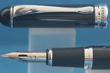 Jinhao x750 Black Lacquered Fountain Pen, Super Flex Zebra G Nib Fitted