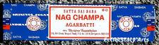 Satya Nag Champa Incense Sticks 1 Box, 40 Grams Sai Baba Agarbatti {:-) NEW