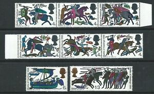 GB 1966 SG705-12p. 900TH ANNIVERSARY OF THE BATTLE OF HASTINGS PHOSPHOR SET MNH