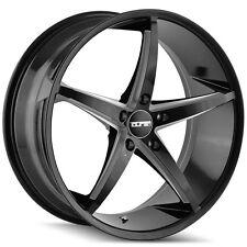 4-NEW Touren 3270 TR70 17x7.5 5x112 +40mm Black/Milled Wheels Rims