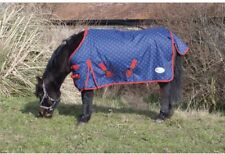 Turnout Rug, 4ft 0 Shetland/ Foal, Lightweight, Blue & Red Dots, FREE UK Postage