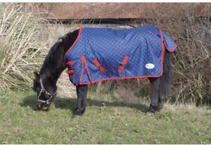 Cwell Equine New Mini Lightweight Turnout Shetland Rug Pony Rug Foal Rug No Fill Choice of Sizes /& Colors 3 feet 9 inches, Navy
