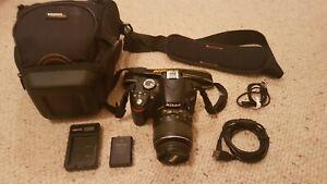Nikon D3200 24.2MP DSLR Camera - Black (Kit w/ AF-S 18-55mm II Lens)