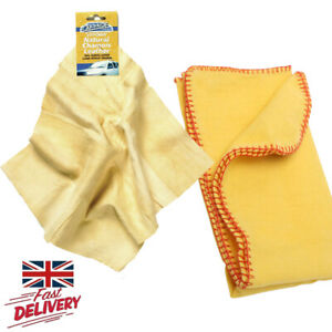 Natural Chamois Leather Car Wash Cleaning Cloth Microfiber Towels Yellow Duster
