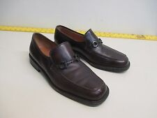 Salvatore Ferragamo Studio brown Leather Horsebit  Loafers size 9 2E EUC Italy