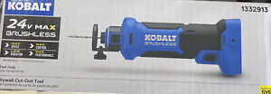 NEW - Kobalt 1332913 24V MAX Brushless Drywall Cut-Out (TOOL ONLY)