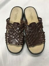 Montego Bay Club Brown Leather Sandals/Slides Size 7