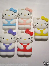 Blue Large HELLO KITTY iPhone 5 5s - Silicone Gel Rubber Designer Full Case