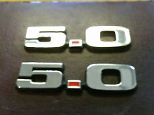 5.0 Engine ID Emblems NEW PAIR 5.0L 302 MUSTANG