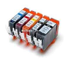 5 cartouches d'encre compatibles pour les imprimantes Canon IP MG MX MP Pixma