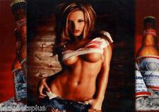 BUDWEISER SEXY GIRL 5 BEER FRIDGE MAN CAVE LOCKER TOOL BOX MAGNET