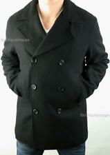 Armani Exchange A|X Mens Wool Peacoat Double Breasted Winter Jacket NWT $250