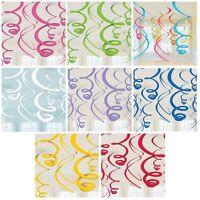 12 Plastic Swirls Decorations - 55.88cm {Amscan} (Party/Decoration/Birthday)