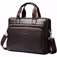 Laptop Leather Briefcase Handbag Men's Business Crossbody Shoulder Bag Messenger