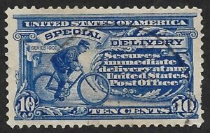 Mr B's 1902 Used #E6 Special Delivery Man on Bicycle- VF Nice! - FREE SHIPPING
