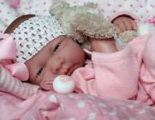 PRETTY IN PINK! Preemie Berenguer La Newborn Reborn Pacifier Doll + Extras