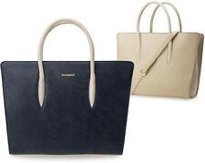 Damentasche Monnari kleine Aktentasche mit modischen Prägungen dunkel blau