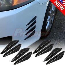 8PCS Set Universal Carbon Fiber Front Bumper Lip Fins Canards Splitters Diffuser
