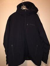 Columbia Sportwear Mens Winter Jacket Hooded Size XX-large Black