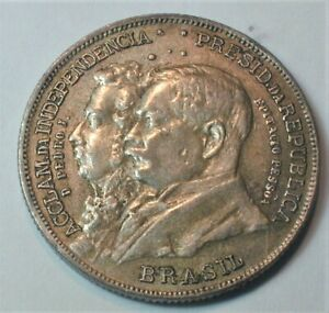 1922 Brazil  Independence Centennial Silver 2000 Reis KM# 523 (#68)