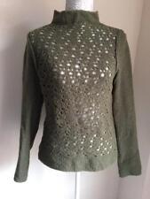Calvin Klein Womens Khaki Green Jumper Size 10-12 (65)