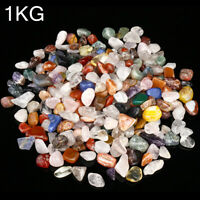 1000g Tumbled Gemstone Natural Crystal Mixed Quartz Chip Bulk Stone New HH