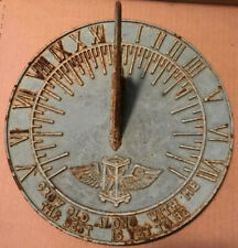 Vtg Cast Garden Sundial w Pointer Grow Old Along With Me The best is yet to be