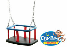 INTERCHANGEABLE Baby Playground Commercial Heavy Rubber Swing Seat with chains