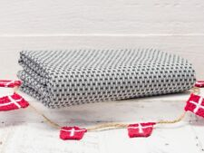Solwang Geschirrtuch SCHWARZ CREME Küchentuch ORGANISCH Handtuch BIO Baumwolle